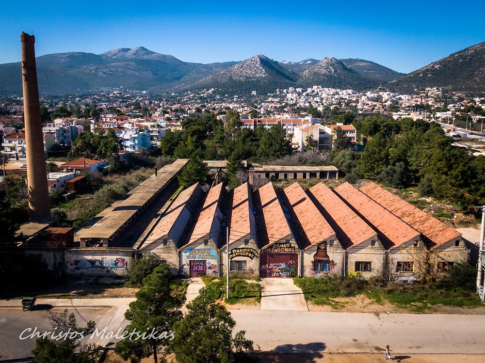 Το εργοστάσιο πορσελάνης σήμερα | Εναέρια λήψη από τον φωτογράφο Χρήστο Μαλέτσικα