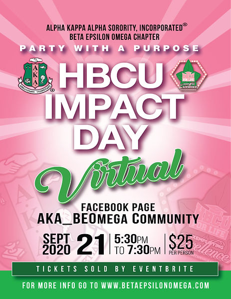 Beta Epsilon Omega Chapter Party With A Purpose: 2020 HBCU Impact Day