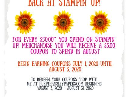 Reminder! Bonus Days at Stampin' Up! Are still happening!