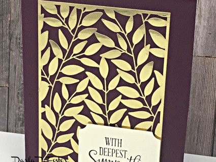 Quick and Easy Cards Using Gold Laser-Cut Paper!