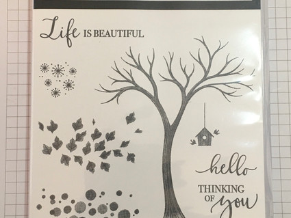 Creating A Halloween Feel with the Life is Beautiful Stamp Set