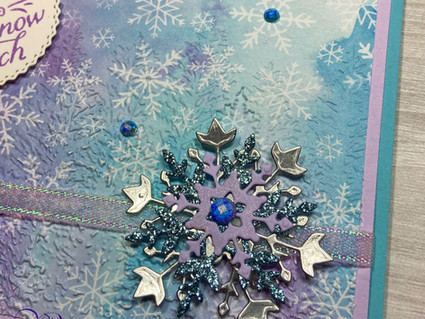Day 6: Snowflake Splendor DSP with Non-Traditional Christmas Colors