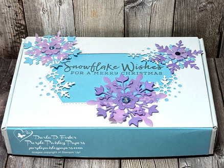 Snowflake Wishes Mini Paper Pumpkin Box and Notes Cards