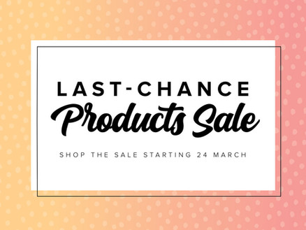 LAST CHANCE PRODUCTS from the 2020- 2021 Annual Stampin' Up! Catalog (until May 3, 2021)