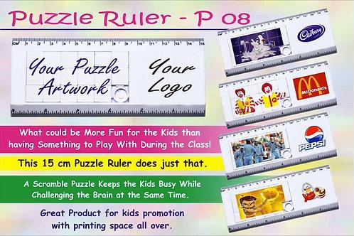 Puzzle ruler P-08