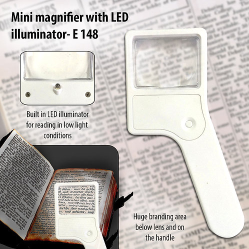 Mini magnifier with torch E-148