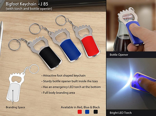 Bigfoot Keychain with torch and bottle opener J-85