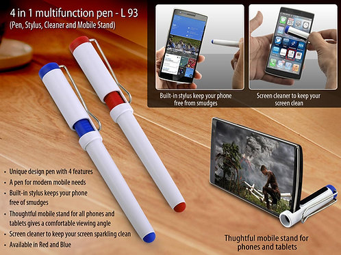 4 in 1 multifunction pen (Pen, Stylus, Cleaner and Mobile Stand) L-93