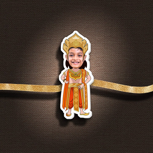 Personalised Cartoon Rakhi With Magnet CI- 50