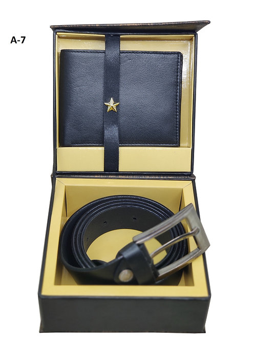 2 IN 1 Set-Leather Black A-07