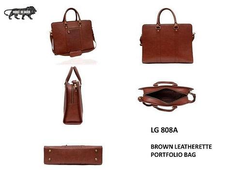 BAGS Brown Leatherette Portfold  Bag CI-LG-808A
