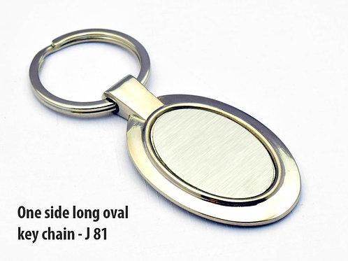 One side long oval key chain J-81