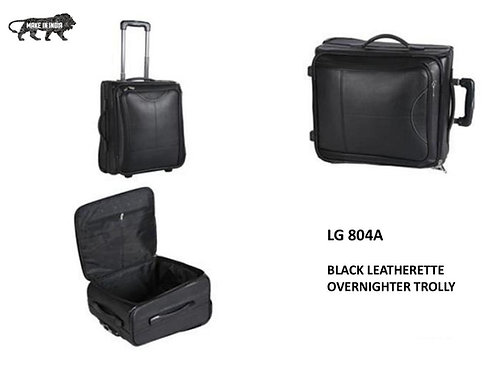 Black Leatherette Overnighter Trolley CI-LG-804A