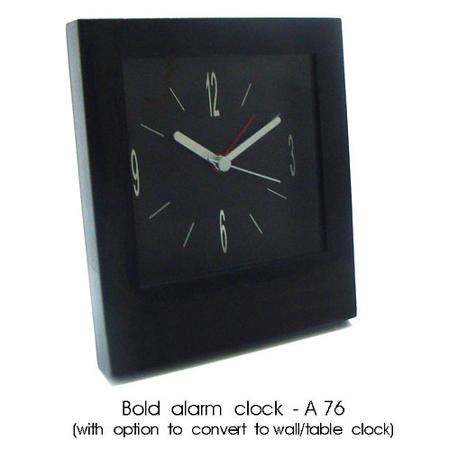 Bold alarm clock (with option to convert to wall / table clock) A-76