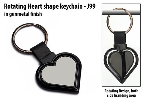 Rotating Heart shape keychain J-99
