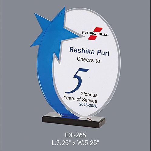 Acrylic Trophy IDF-265