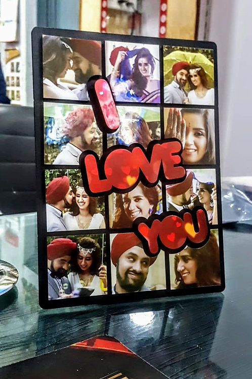 Personalized 3D Wood Collage Photo Frame CI- 99