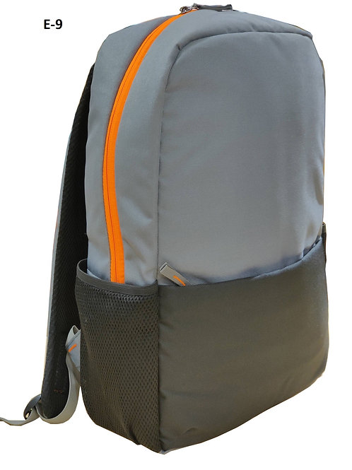 Grey With Black Backpack E-09