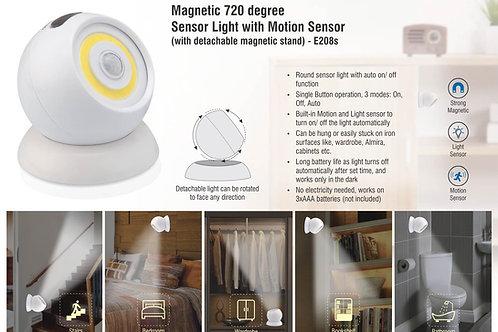 Magnetic 720 degree Sensor light with motion sensor E-208s