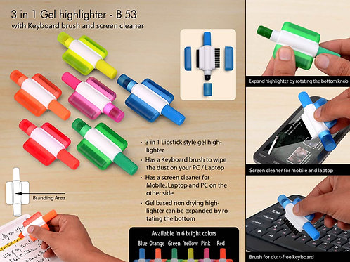 Gel highlighter with Keyboard brush and screen cleaner B-53