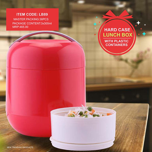 Bella Lunch Box with 3 Plastic container CI-JMD-79