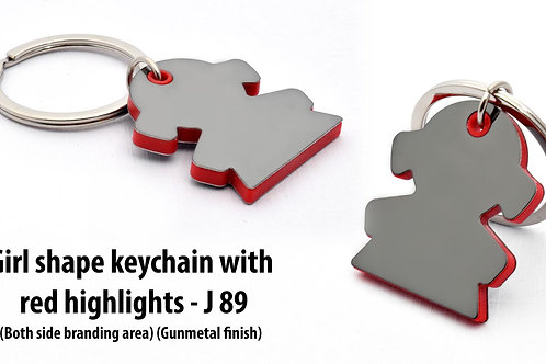 Girl shape keychain with highlights J-89