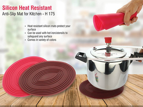 Silicon heat resistant, anti-slip mat for kitchen H-175