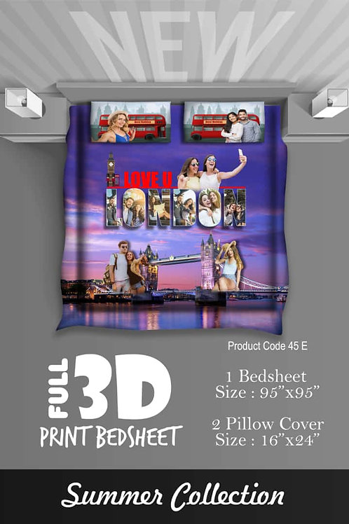 Personalized Full 3D Print Bed Sheet  CI- 111