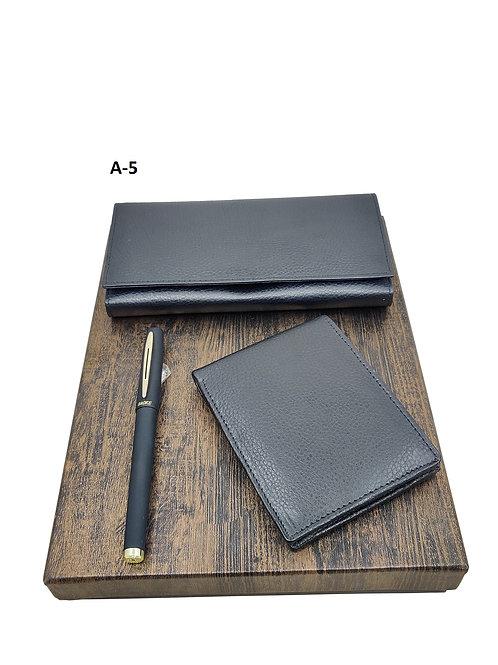 3 IN 1 SET-DD Black Leather A-05