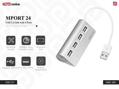 MPORT 24 USB 2.0 Hub with 4 Ports POR-717