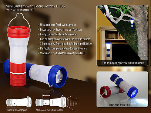 Mini Lantern with focus torch (with 3 torch modes) E-135