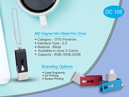 360 Degree Mini Metal Pen Drive DC-106
