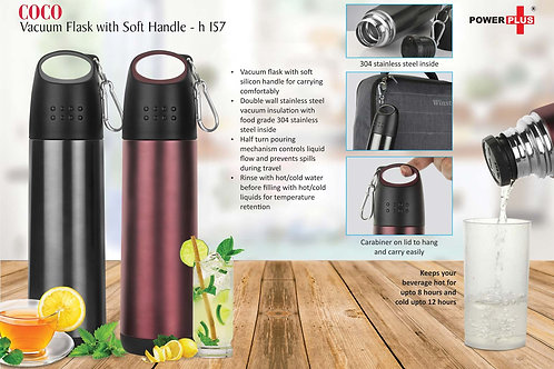 Coco Vacuum Flask with soft handle (500 ml approx) H-157