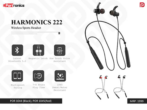 HARMONICS 222 Wireless Sports Headset POR-1044