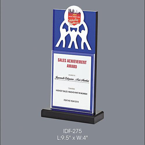 Acrylic Trophy  IDF-275
