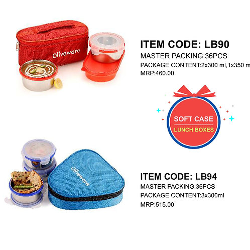 Freshy Lunch Box with 3 SS Container CI-JMD-68