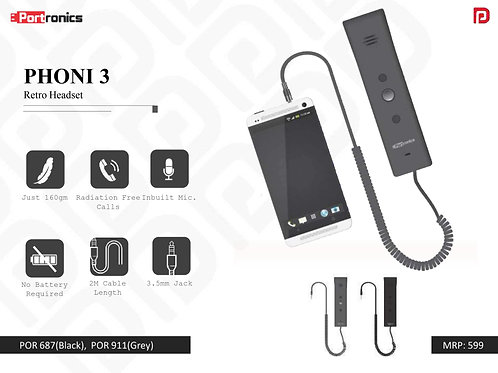 PHONI 3 Retro Headset POR-687