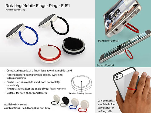 Rotating mobile finger ring (with mobile stand) E-191