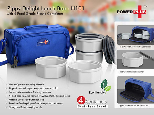 Zippy Delight: 4 container lunch box (plastic containers) H-101