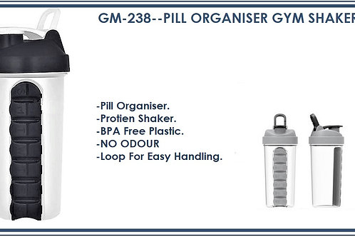 PILL ORGANISER GYM SHAKER (700 ML) GM-238
