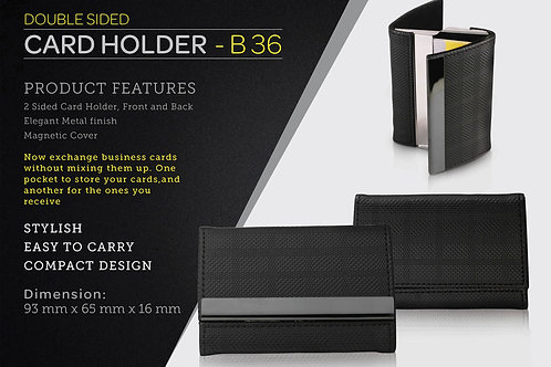 Double side card holder B-36