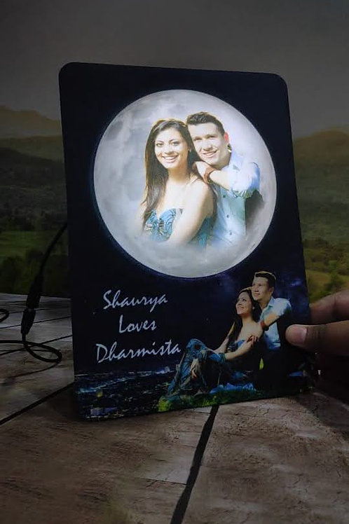 Personalized  3D Embossed LED Moon photo Frame CI-10