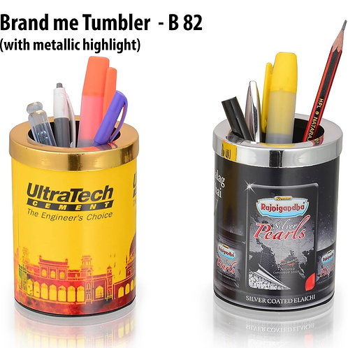 Brand me Tumbler with metallic highlight B-82