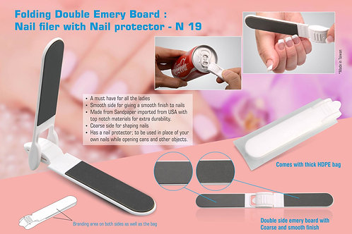 Folding Double Emery Board : Nail filer with Nail protector N-19