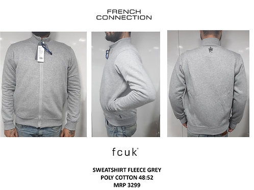 Fcuk Sweatshirt Fleece Grey Poly Cotton CI-19