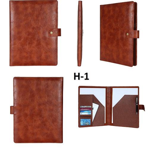 Conference Folder-Tan Crackle H-01
