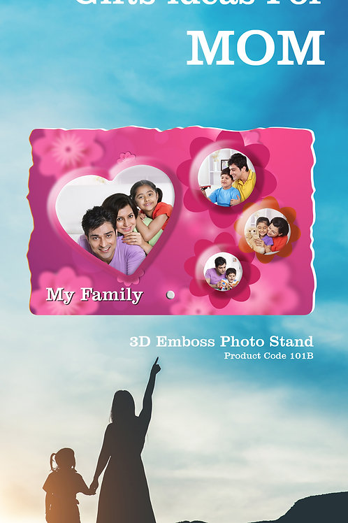 Personalised 3D Emboss Photo Stand CI- 117
