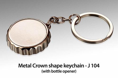 Metal Crown shape keychain with bottle opener J-104