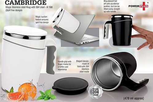Cambridge Magic Stainless steel Mug with 304 steel | Spill free design H-168
