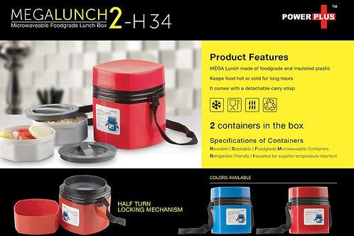 Power Plus Mega Lunch Box (Microwaveable)- 2 Box H-34